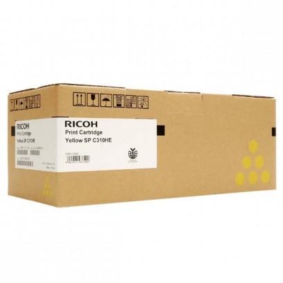 Ricoh originální toner 406482, 407635, yellow, 6000str., Ricoh SP C310, C311, C312, SP C231, C232