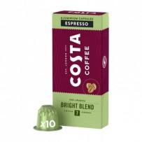 Kávové kapsle Nespresso espresso, Bright Blend 100% Arabica Espresso, 10 kapslí, krabička