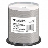Verbatim CD-R, 43718, Thermal Surface For Rimage Prism, 100-pack, 700MB, 52x, cake box, pro archivaci dat