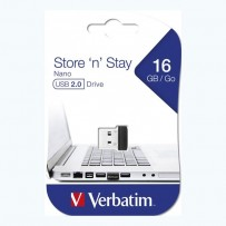 Verbatim USB flash disk, 2.0, 16GB, Nano Store ,N, Stay, černý, 97464