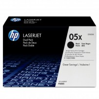 HP originální toner CE505XD, black, 13000 (2x6500)str., HP 05X, high capacity, HP LaserJet P2055, Dual pack, 2ks