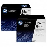 HP originální toner CE255XD, black, 12500str., HP 55X, HP Enterprise P3015, LaserJet Pro 500 MFP M521dn, Dual pack, 2ks