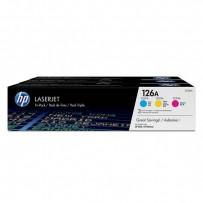 HP originální toner CF341A, CMY, 1000str., HP 126A, HP LaserJet+, N, 900g, 3ks