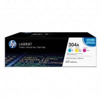 Zvýhodněná sada barevných tonerů HP CC531A, C532A, C533A, HP 304A - 3ks