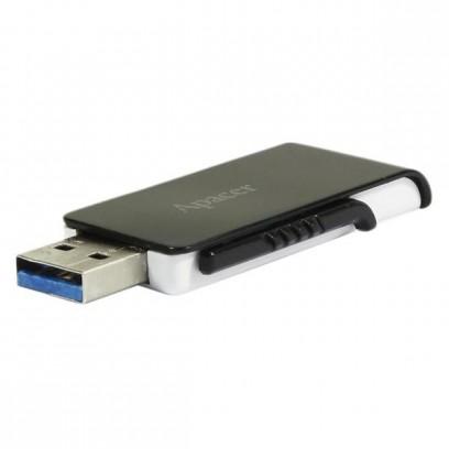 Apacer USB flash disk, 3.0, 64GB, AH350, černý, AP64GAH350B-1, s výsuvným konektorem