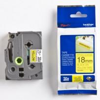 Brother originální páska do tiskárny štítků, Brother, TZE-S641, černý tisk/žlutý podklad, laminovaná, 8m, 18mm, extrémně adhe...
