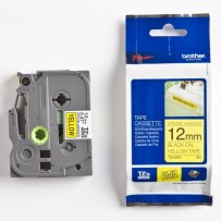 Brother originální páska do tiskárny štítků, Brother, TZE-S631, černý tisk/žlutý podklad, laminovaná, 8m, 12mm, extrémně adhe...