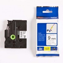 Brother originální páska do tiskárny štítků, Brother, TZE-FX221, černý tisk/bílý podklad, laminovaná, 8m, 9mm, flexibilní