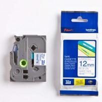 Brother originální páska do tiskárny štítků, Brother, TZE-233, modrý tisk/bílý podklad, laminovaná, 8m, 12mm