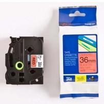 Brother originální páska do tiskárny štítků, Brother, TZE-461, černý tisk/červený podklad, laminovaná, 8m, 36mm