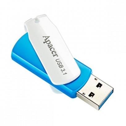 Apacer USB flash disk, 3.1, 32GB, AH357, modrý, AP32GAH357U-1, s otočnou krytkou