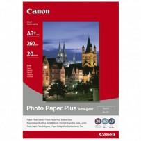 "Canon Photo Paper Plus Semi-Glossy, foto papír, pololesklý, saténový, bílý, A3+, 13x19"", 260 g/m2, 20 ks, SG-201 A3+, inkoustový"