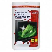 Čisticí trhací ubrousky, na LCD TV, plasma TV, domácí kino, dóza, 50ks, LOGO