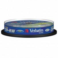 Verbatim CD-RW, 43480, DataLife PLUS, 10-pack, 700MB, Advanced Serl, 8-12x, 80min., 12cm, Scratch Resistant, bez možnosti pot...