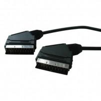 Kabel Scart M- Scart M, SCART, 1m, černá, Logo, blistr