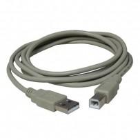 Kabel USB (2.0), USB A M- USB B M, 1.8m, černý