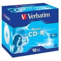Verbatim CD-R, 43365, MusicLife PLUS, 10-pack, 700MB, 24x, 80min., 12cm, bez možnosti potisku, jewel box, Standard, pro archi...
