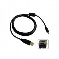 Kabel USB (2.0), USB A M- 8 pin M, 1.8m, černý, Logo, blistr, MINOLTA