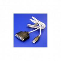 Kabel USB (1.1), USB A M- 25 pin F, 1.5m, černý, IEEE 1284