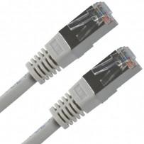 FTP patchcord, Cat.5e, RJ45 M-3m, stíněný, šedý, economy