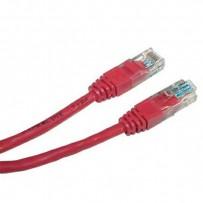 UTP patchcord, Cat.5e, RJ45 M-0.25m, nestíněný, červený, economy