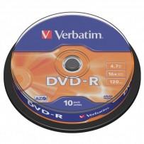 Verbatim DVD-R, 43523, DataLife PLUS, 10-pack, 4.7GB, 16x, 12cm, General, Advanced Azo+, cake box, Scratch Resistant, bez mož...
