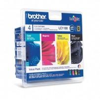 Zvýhodněná sada Brother LC-1100 černá + modrá + červená + žlutá