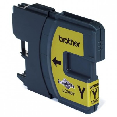 Brother originální ink LC-980Y, yellow, 260ml, Brother DCP-145C, 165C