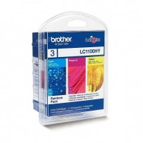 Brother originální ink LC-1100HYRBWBP, cyan/magenta/yellow, 3x750str., Brother DCP-6690CW, MFC-6490CW, výhodné balení