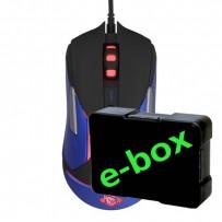 E-Blue Myš Auroza Gaming V2, 5000DPI, optická, 6tl., 1 kolečko, drátová USB, černá, herní, e-box