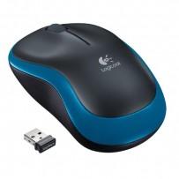 Logitech Myš M185, 1000DPI, 2.4 [GHz], optická, 2tl., 1 kolečko, bezdrátová, modrá, 1 ks AA, k notebooku, univerzální