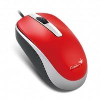 Genius Myš DX-120, 1200DPI, optická, 3tl., 1 kolečko, drátová USB, červená, standardní, univerzální