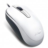 Genius Myš DX-120, 1200DPI, optická, 3tl., 1 kolečko, drátová USB, bílá, standardní, univerzální