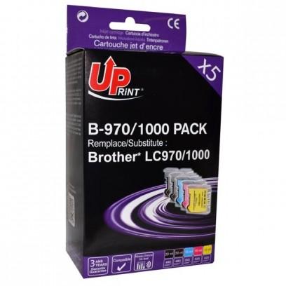 UPrint kompatibilní ink s 2xblack/1xcyan/1xmagenta/1xyellow, B-970/1000 PACK, pro Brother DCP-330C, 540CN, 130C, MFC-240C, 440CN