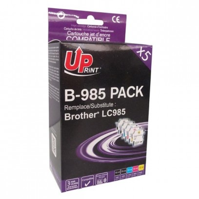 Sada kompatibilní Brother LC-985 černá + modrá + červená + žlutá