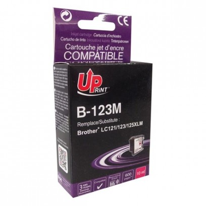Kompatibilní Brother LC-123M červená