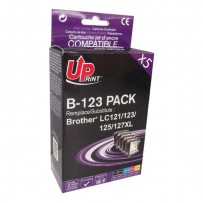 Zvýhodněná sada kompatibilní Brother LC-123BK + LC-123C + LC-123M + LC-123Y